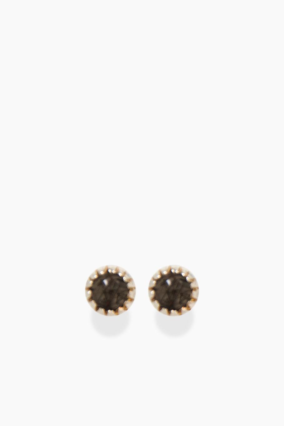 Détail Detail earrings Gratia Rutile black (7738)