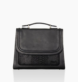 Détail Balance handbag Black anaconda