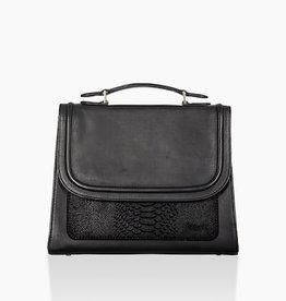 Détail Detail Balance handbag Black anaconda 22 x 9 x 18 cm