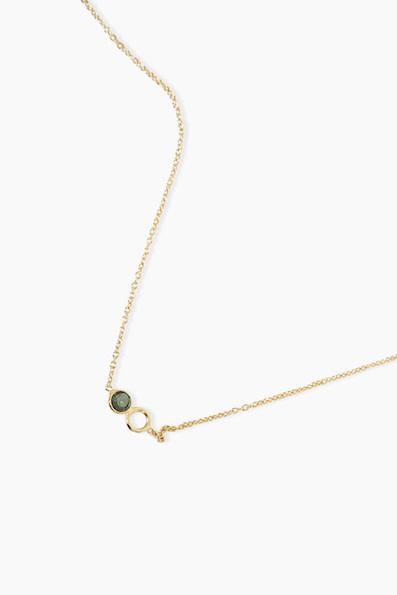 Détail Detail necklace Fiorenza smokequartz GP (8072)
