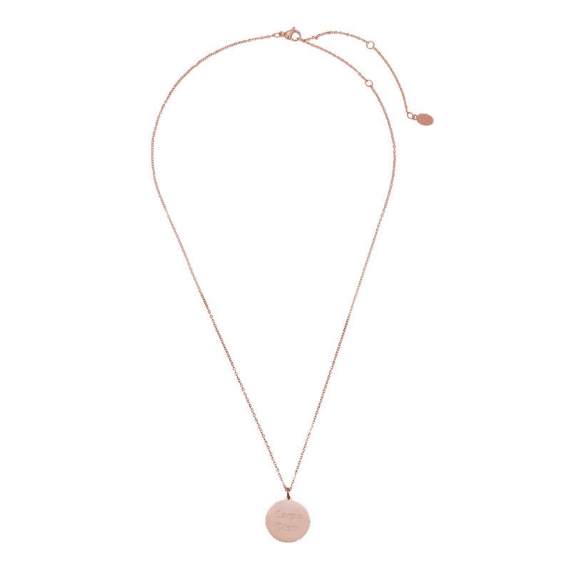With love Necklace carpe diem - rosé