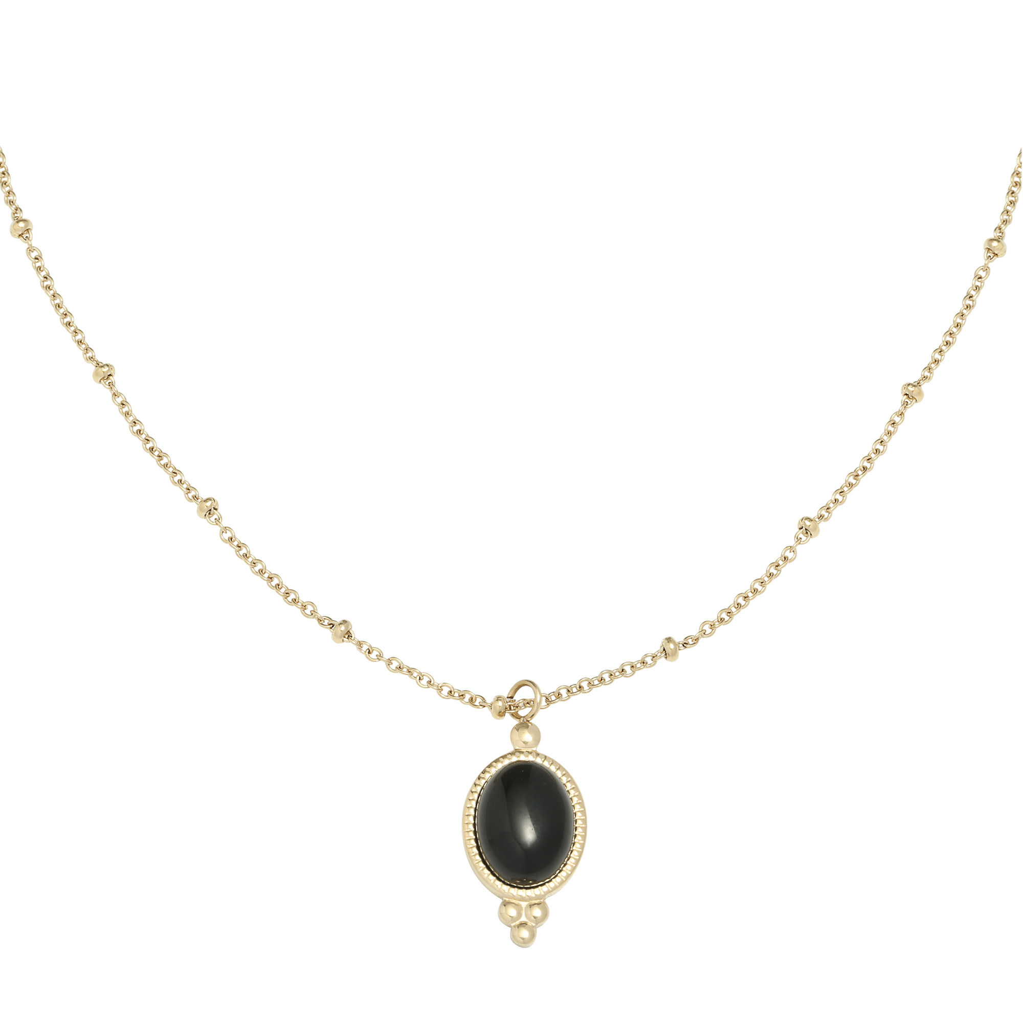 With love Necklace mystic stone - black