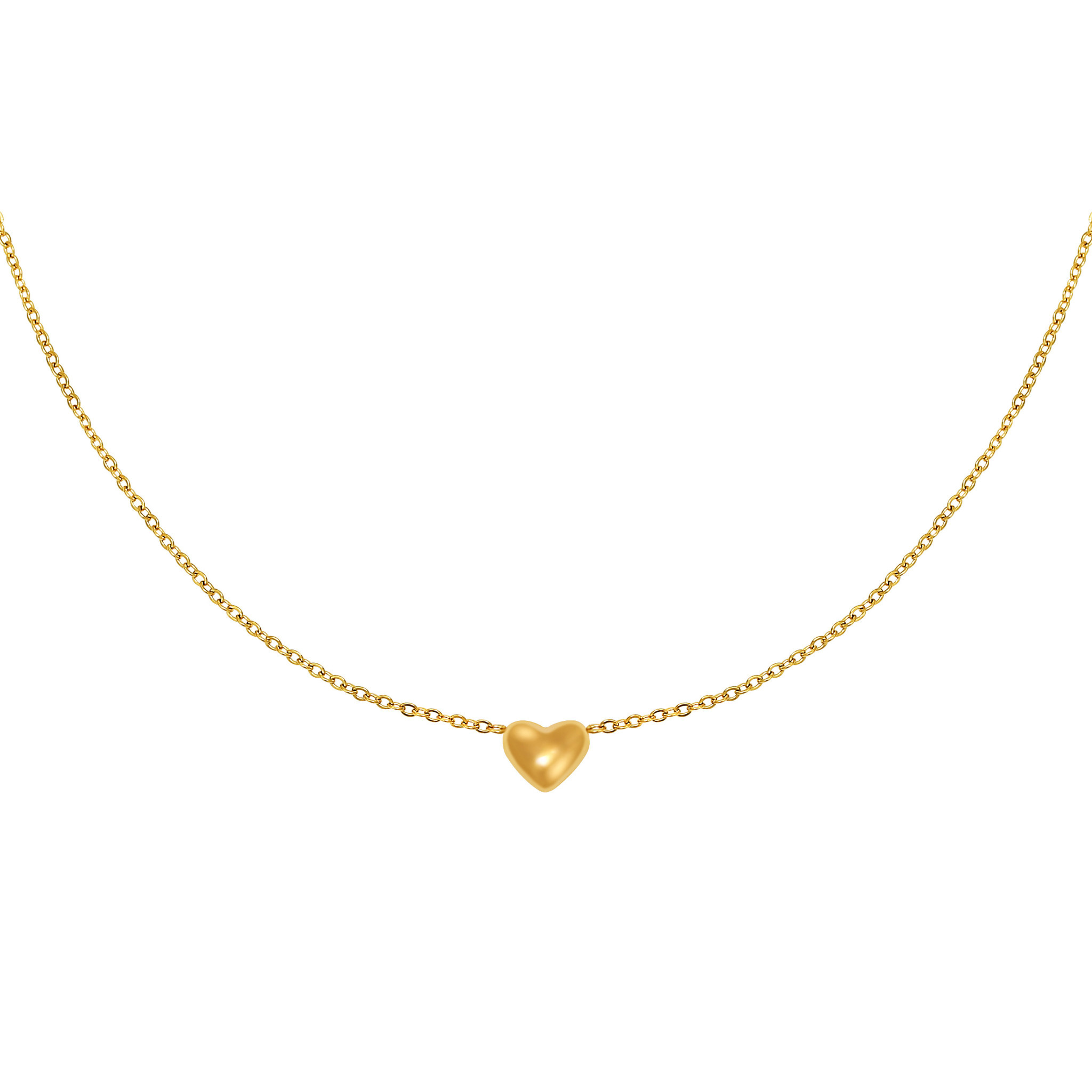 With love Necklace - Always in my heart gold