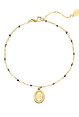 With love Bracelet live life to the fullest - gold black