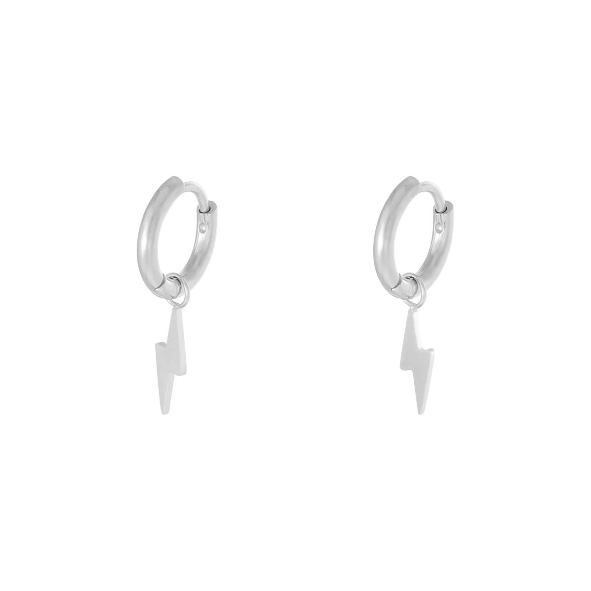 With love Earrings bolt silver
