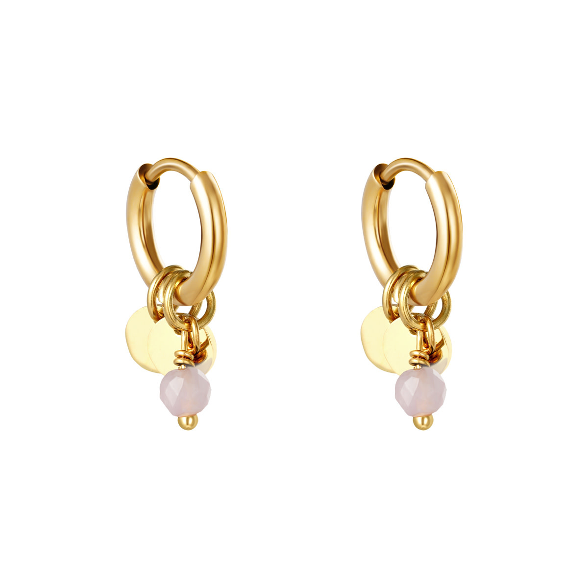 With love Earrings delicate pink