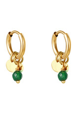 With love Earrings delicate green