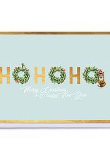 Enfant Terrible Enfant Terrible card  + enveloppe 'ho, ho, ho merry christmas'