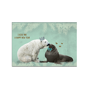 Enfant Terrible Enfant Terrible 5 greeting cards + enveloppes: 'I kiss you a happy new year'