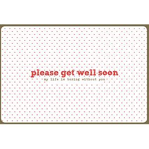Enfant Terrible Enfant Terrible card + enveloppe 'please get well soon'