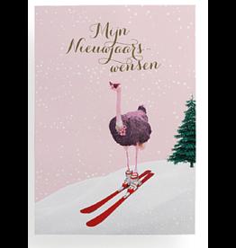 Enfant Terrible Mijn nieuwjaarswensen - struisvogel