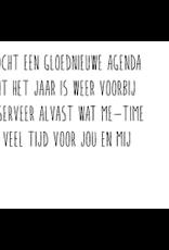 Enfant Terrible Smooj card  + enveloppe 'ik kocht een gloednieuwe agenda'