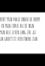 Enfant Terrible Smooj card  + enveloppe 'je bent mijn pakje onder de boom'