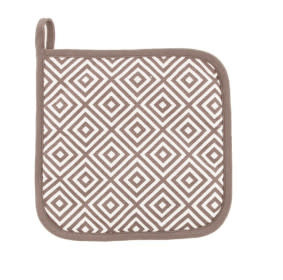 Linen & More Set 2 potholders taupe