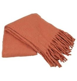 Goround Interior Throw fringes - coral 130 x 170 cm