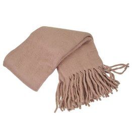 Goround Interior Throw fringes - vieux rose 130 x 170 cm