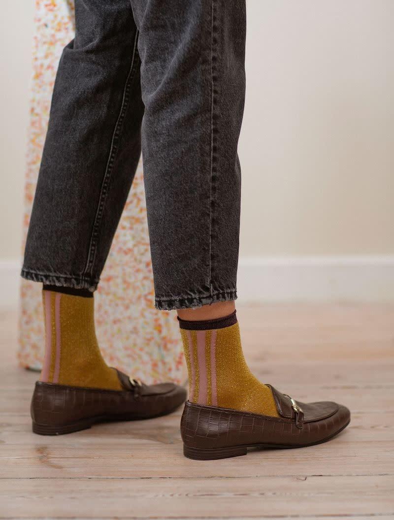 Beck Söndergaard Shimmer Pasha socks - Dusty cedar 37/39