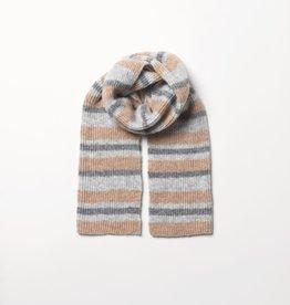 Beck Söndergaard Stroke Gloria scarf - grey (alpaca)
