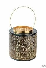 Florissima Metal lantern black - gold 30 cm