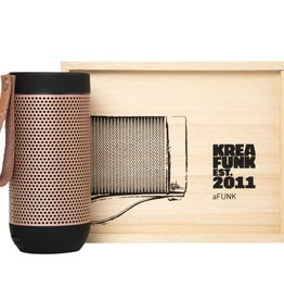 Kreafunk Kreafunk aFunk speaker black with rose gold grill 15x7 cm