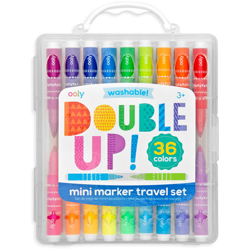 Ooly Mini markers travel set Double Up