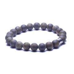 Steel & Barnett Stones bracelet basic - Matt bronzite - Size L