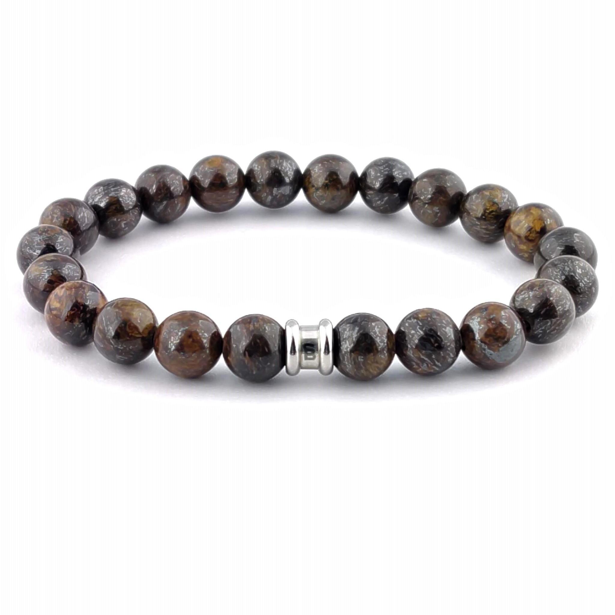 Steel & Barnett Stones bracelet basic - Bronzite - Size M