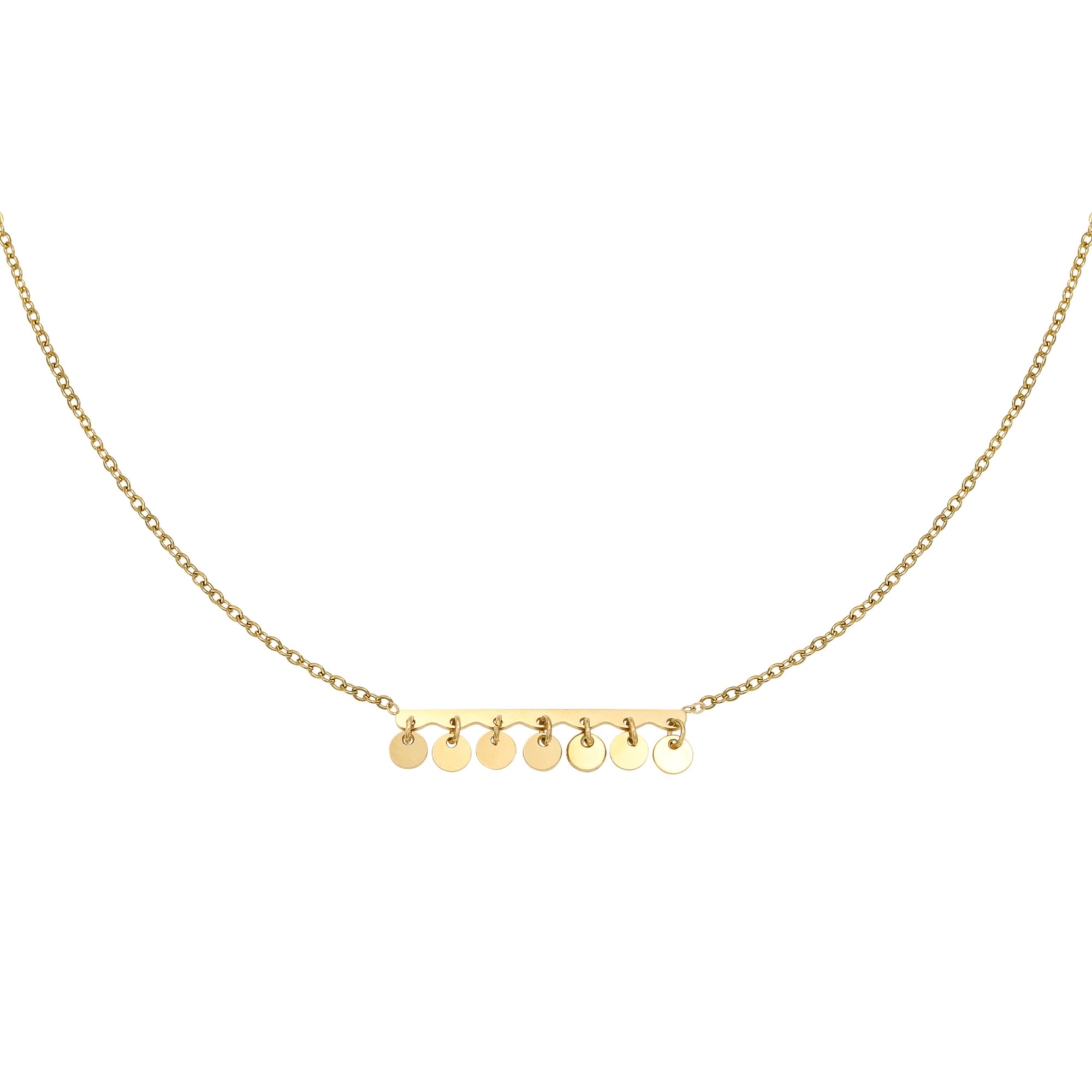 With love Necklace confetti gold