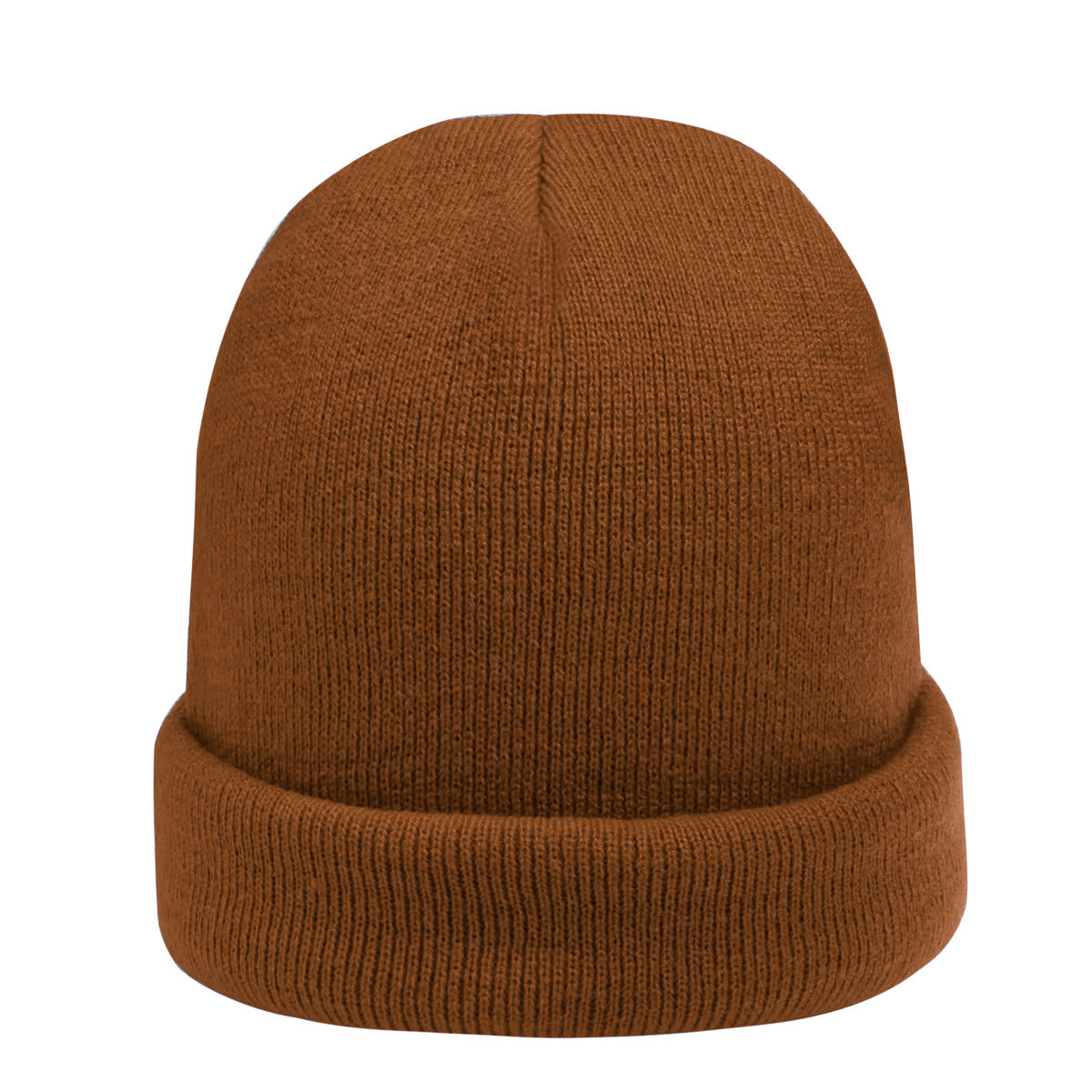 With love Beanie rainbow colors - brown
