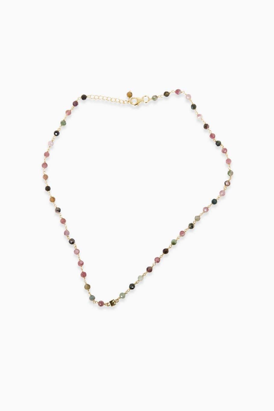 Détail Detail necklace Adrina tourmaline GP (8091)