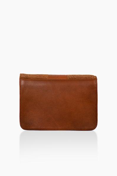 Détail Detail Harmony handbag Cognac anaconda 27.5 x 9 x 20 cm