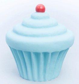 Little Lamp Company Cupcake lamp pastel blue + cherry 22 cm