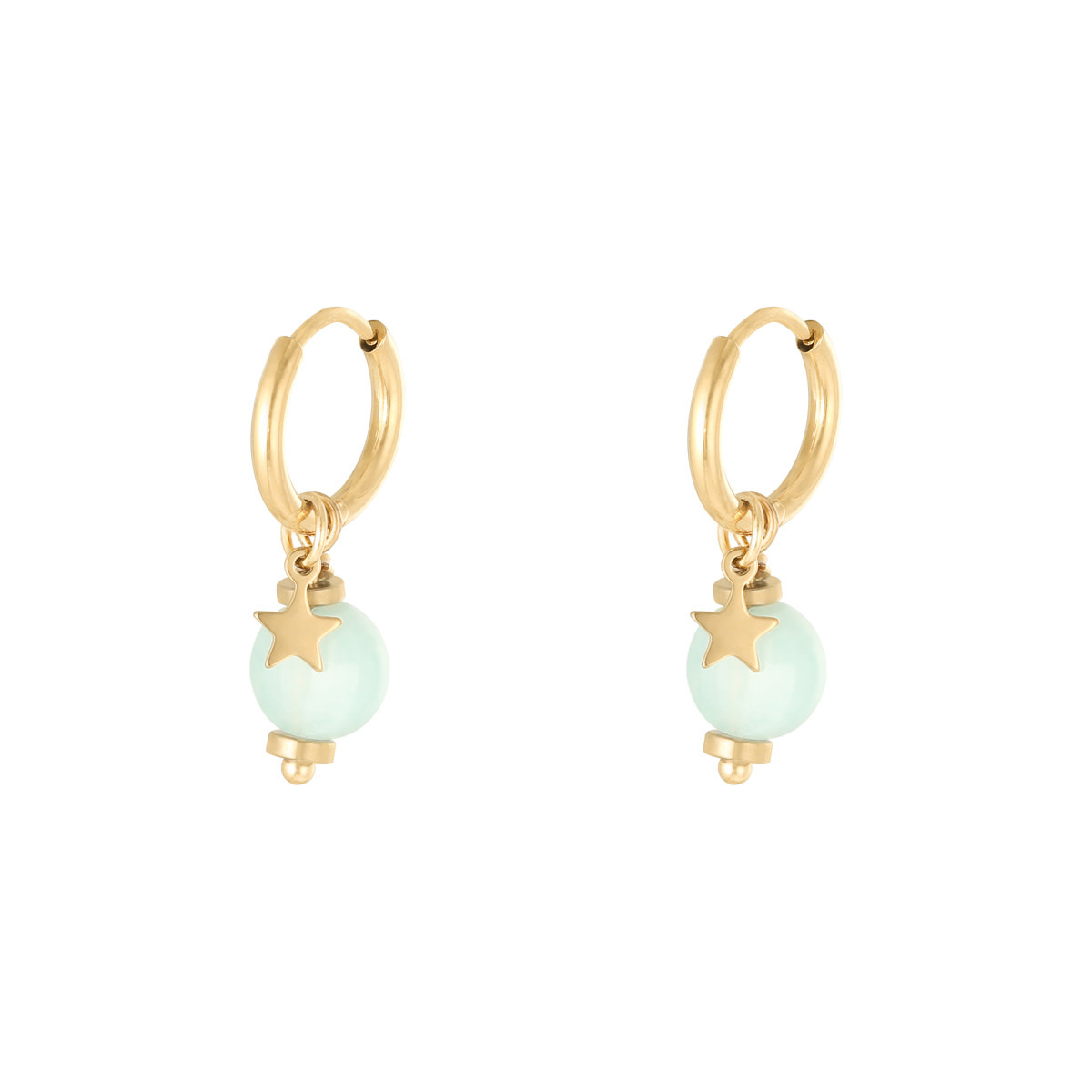 With love Earrings so charming gold - mint