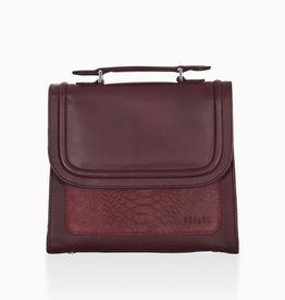 Détail Detail Balance handbag Aubergine anaconda 22 x 9 x 18 cm
