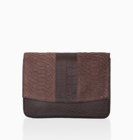 Détail Detail Hope handbag Fondant anaconda 21 x 7 x 15 cm