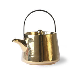 HK Living Ceramic tea pot gold 700 ml. 16x13x11cm