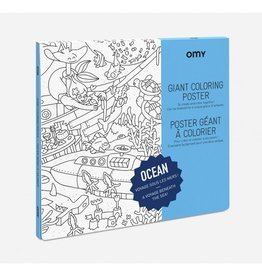 OMY Omy coloring poster 100 x 70 Ocean