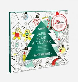 OMY Omy coloring poster 100 x 70 Happy holidays - médecins sans frontières