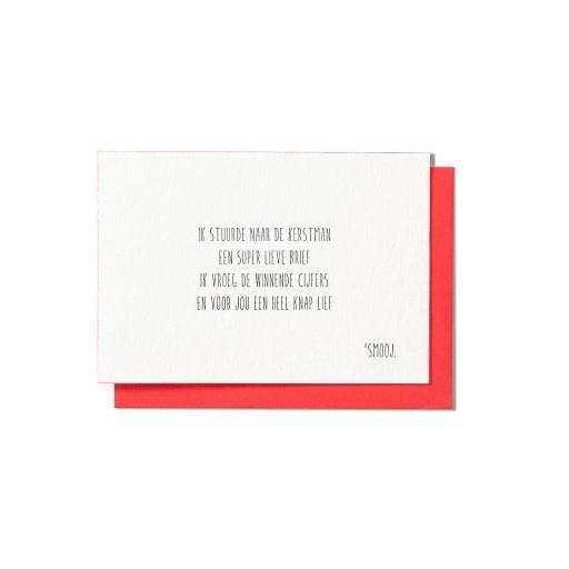 Enfant Terrible Smooj card + enveloppe 'Ik stuurde naar de kerstman'