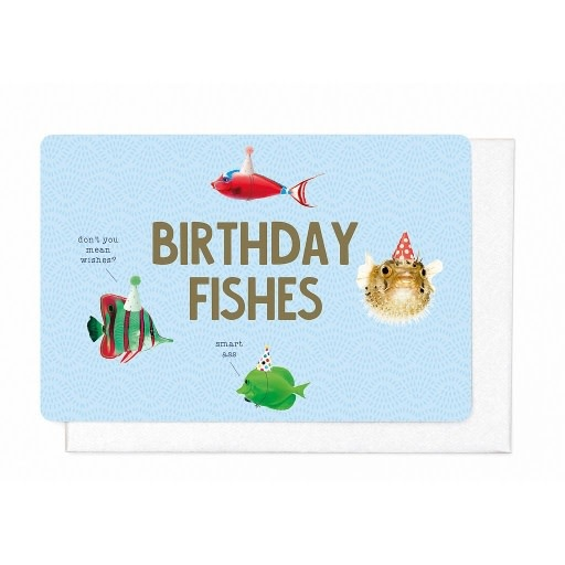 Enfant Terrible Enfant Terrible card + enveloppe 'Birthday fishes'