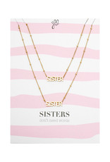 With love Necklace set sisters don't need words - gold