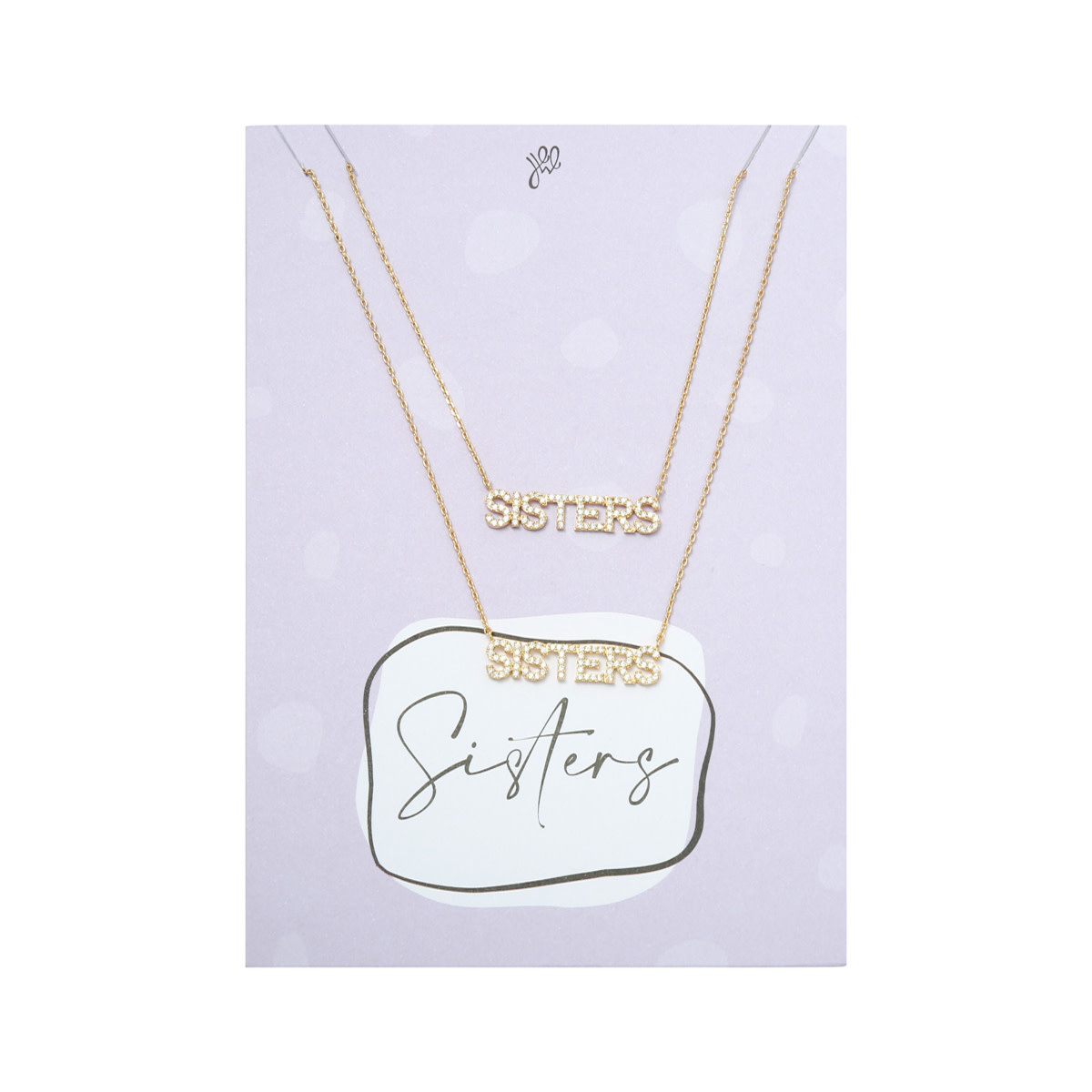 With love Necklace set sisters - gold