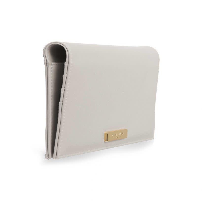 Katie Loxton Katie Loxton secret message purse - Time to shine - grey & silver 12x23 cm