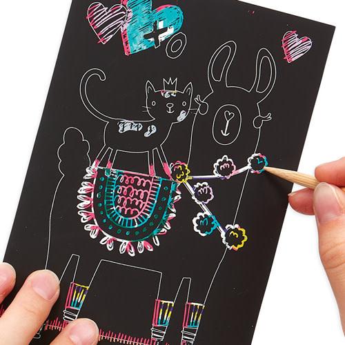 Ooly Scratch & scribble min kit 'Funtastic friends'