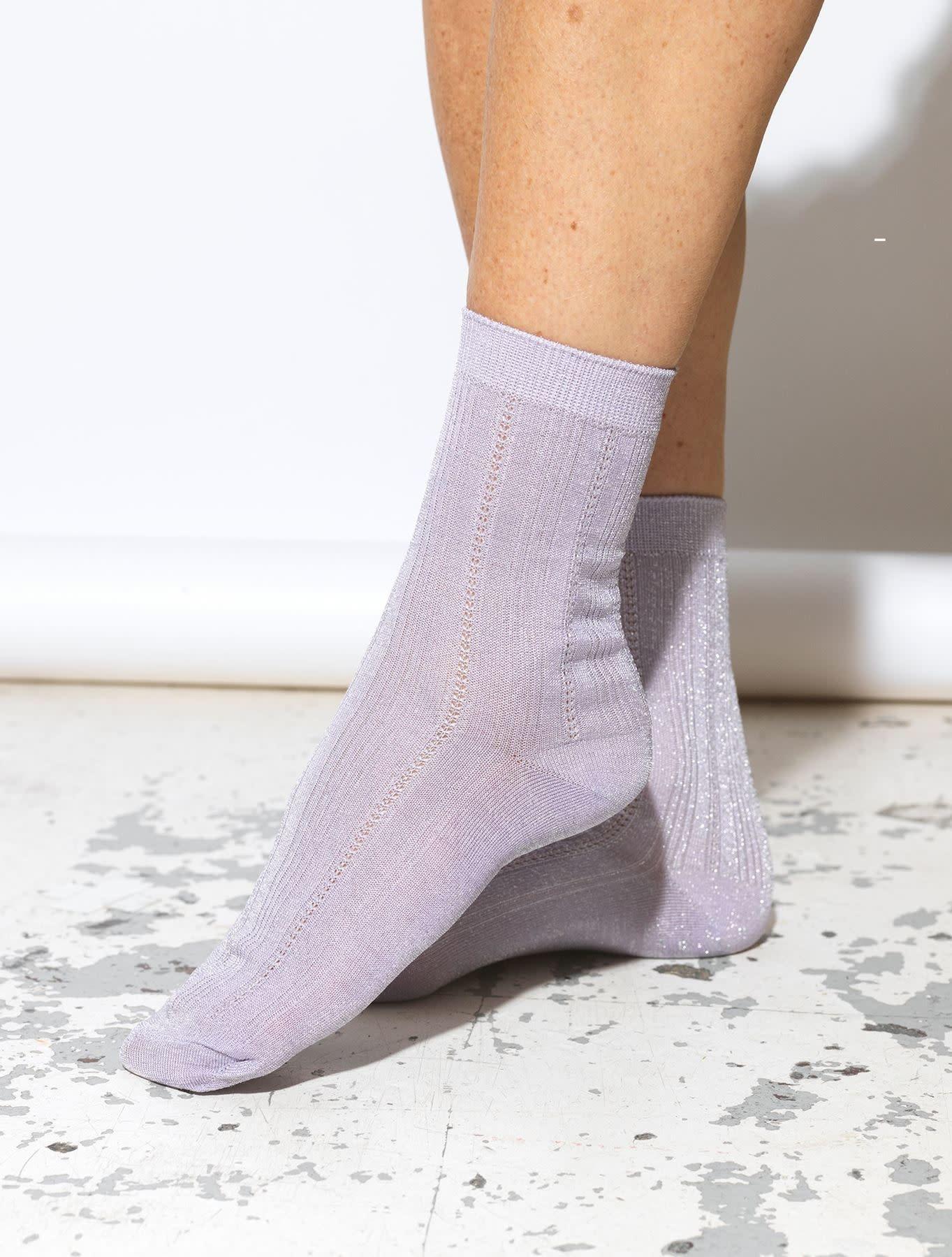 Beck Söndergaard Glitter drake sock - Lavender 39/41