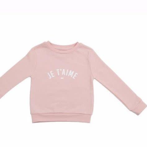 Bob & Blossom Blush pink 'Je t'aime' sweater