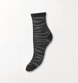 Beck Söndergaard Zebra Glitzi sock - Black 37/39