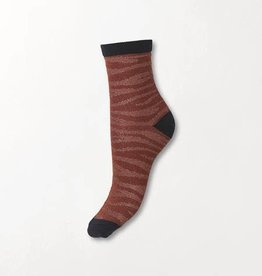 Beck Söndergaard Zebra Glitzi sock - Mahogany 39/41