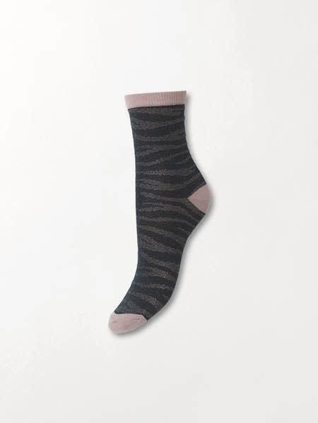 Beck Söndergaard Zebra Glitzi sock - Darkest spruce 39/41