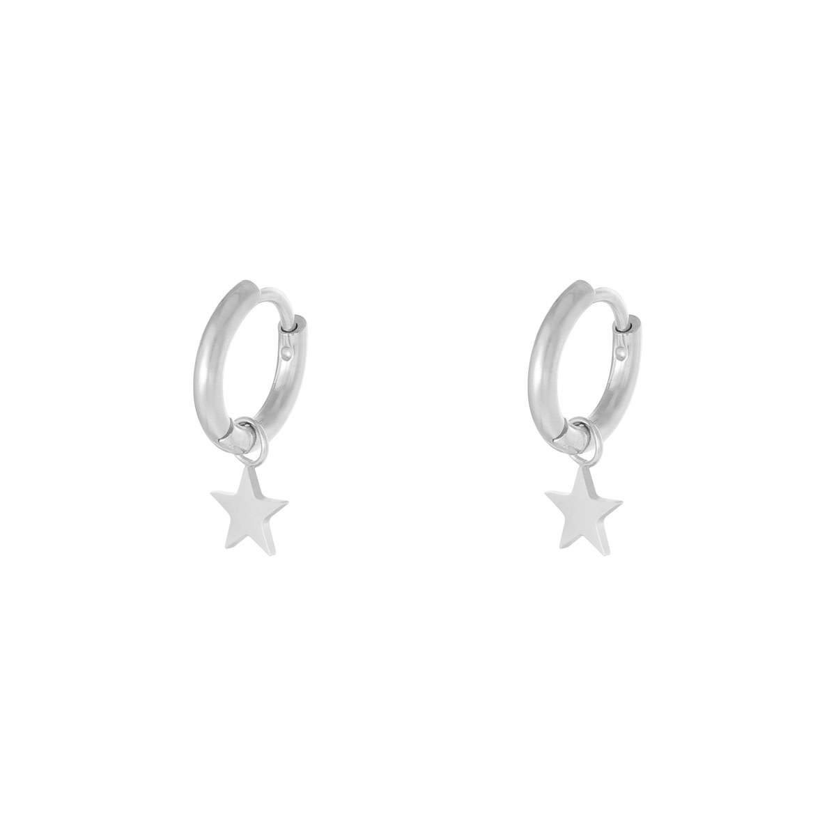 With love Earrings star silver